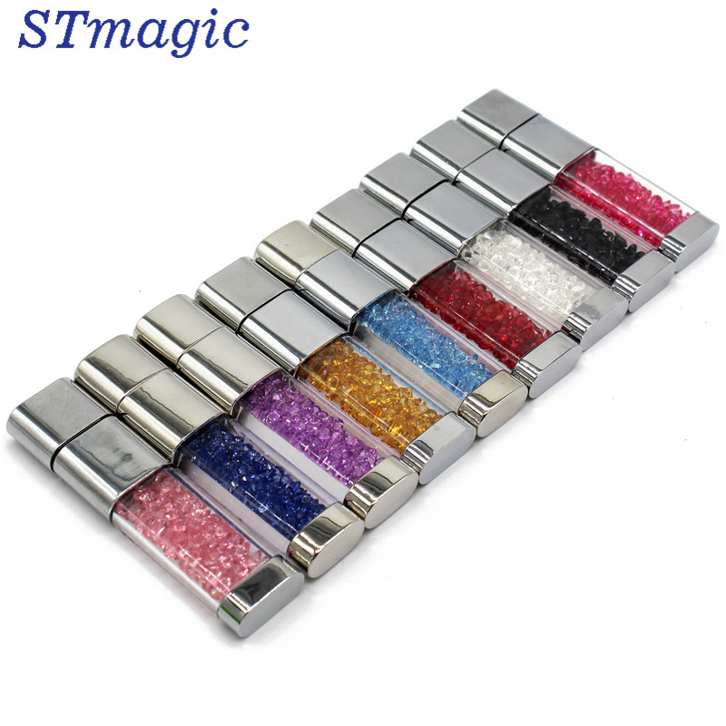 все цены на STmagic crystal Pen drive diamond usb flash drive 4gb 8gb 16gb 32gb memory stick metal usb2.0 онлайн