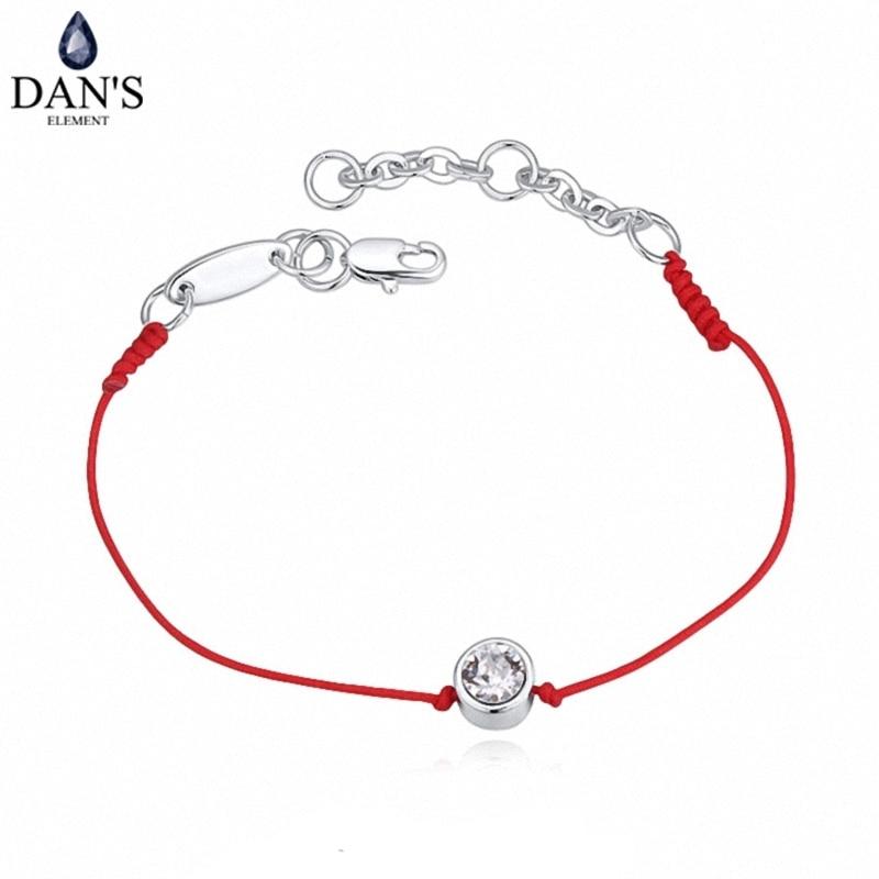 2 cores de jóias de cristal austríaco fino fio vermelho corda corda charme pulseiras para as mulheres moda estilo verão 118960