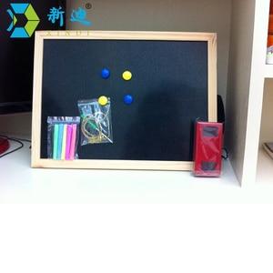 Image 2 - 30*40 センチメートル黒板木製黒板木製フレームチョークボードドライイレースボードステッカー磁気黒板オフィスサプライヤー送料無料