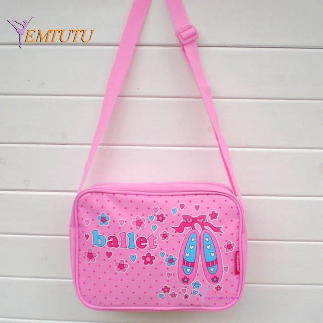 Waterproof Canvas Crossbody S Ballet Bag Flowers Dance Shoes Printing Cute Pink Bags