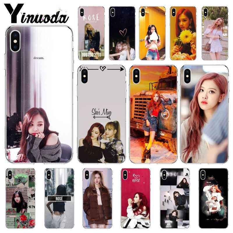 Yinuoda BLACKPINK ROSE Kpop Customer High Quality Phone Case for Apple iPhone 8 7 6 6S Plus X XS MAX 5 5S SE XR Mobile Cases