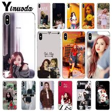 Yinuoda BLACKPINK ROSE Kpop Customer High Quality Phone Case for Apple iPhone 8 7 6 6S Plus X XS MAX 5 5S SE XR Mobile Cases yinuoda demi lovato customer high quality phone case for apple iphone 8 7 6 6s plus x xs max 5 5s se xr mobile cover