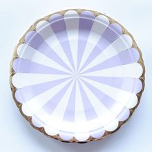 10 pcs 7inch Purple Striped Birthday Wedding Party Supplies Decoration Cake Dish Disposable Paper Plates Baby  sc 1 st  AliExpress.com & Buy purple paper plates and get free shipping on AliExpress.com
