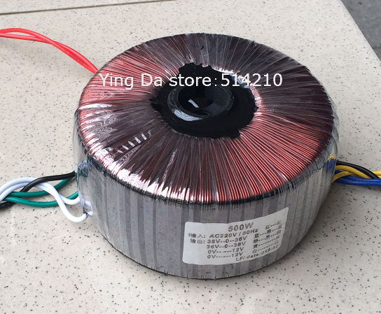 500W Ring transformer output two groups of three line 36V+ two group of 12V secondary 10 lines output ac230v 160db motor driven air raid siren metal horn industry boat alarm ms 590