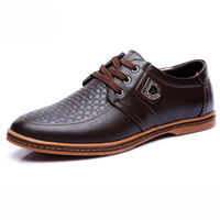 2018 Men Leather Casual Shoes Men 39 S Lace Up Footwear Business Adult Moccasins Male Shoes