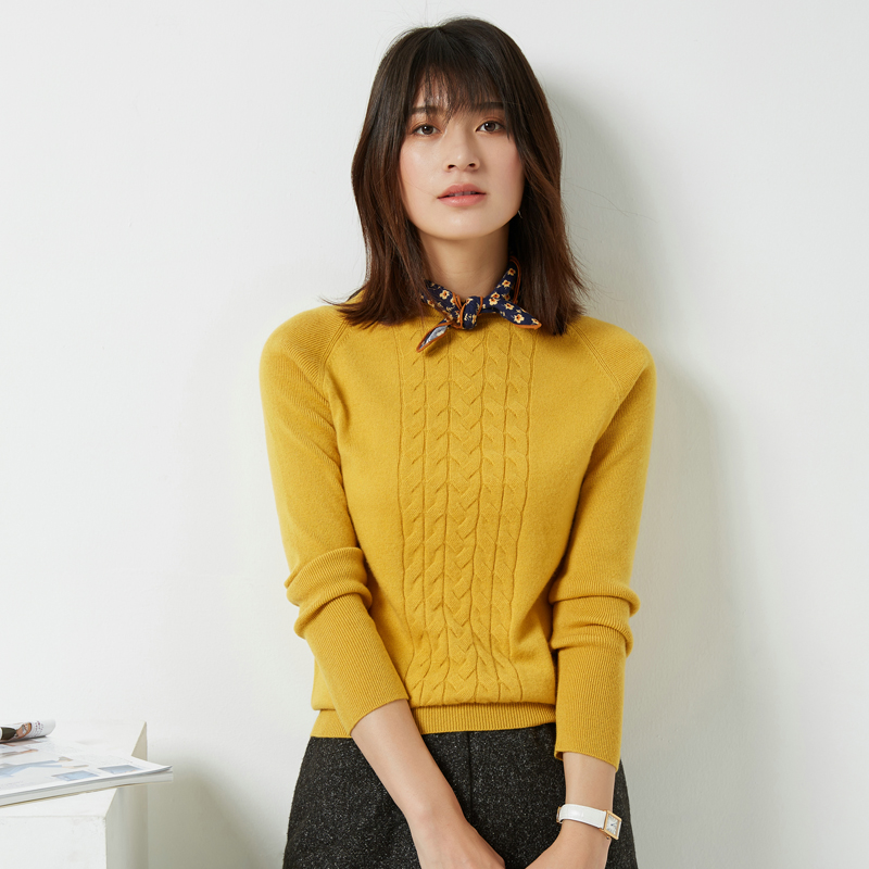 2019 New arrival women Sweater O neck pure cashmere sweater women solid color basic pullover female
