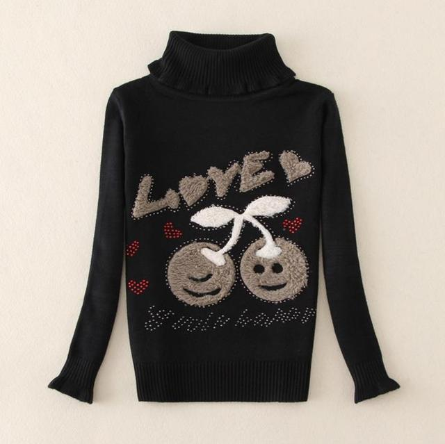 f7b71ea3f 2015 Girls Jumper Autumn Cartoon Sweaters Children Kids Knitted ...