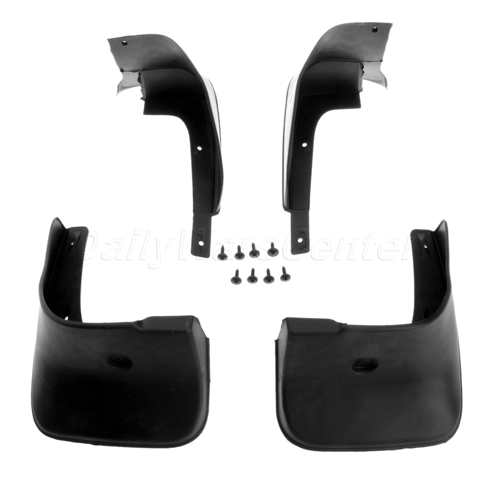 4pcs mud flaps on car mud guard fender splash guards for. Black Bedroom Furniture Sets. Home Design Ideas