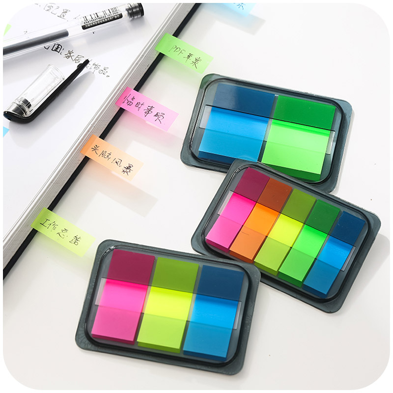 Rainbow Classification Chromophous Label Sticky Adhesive Highlighter Index Tab Flags Post it Sticker BookMarker Memo Pad