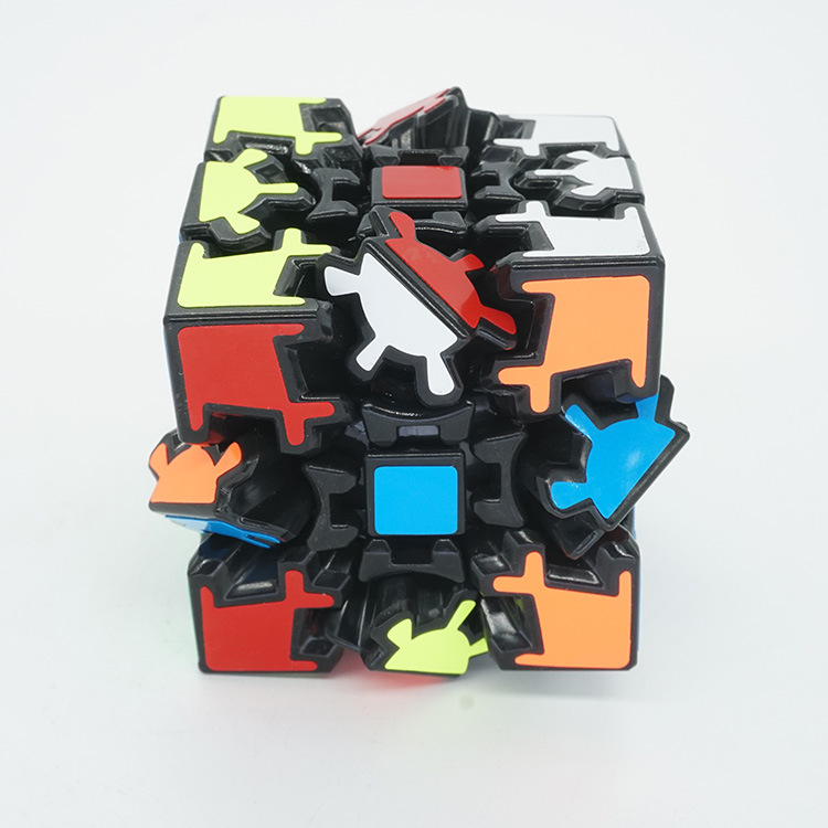 Fanxin Gear Magic Cube Black Stickers Speed Puzzle Cubo Magico For Kids Gift