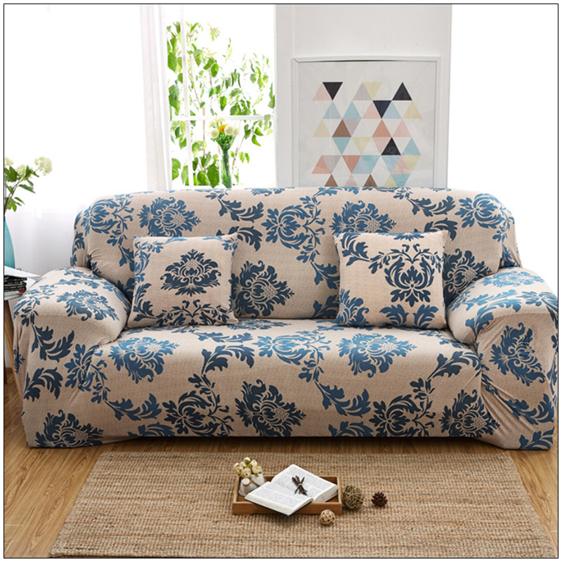 Pastoral Printed Sofa Cover Flexible Stretch Sofa Covers Big