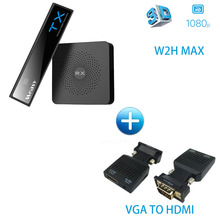 MEASY W2H MAX WIRELESS HDMI 3D 1080P 60Ghz Wireless Extender Receiver And Transmitter up to 30M 100FT (W2H MAX + VGA TO HDMI)