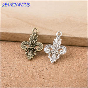 Fleur-De-Lis Charms Pendants Jewelry-Making Bronze Antique Silver for 20pieces/Lot 15mm--26mm