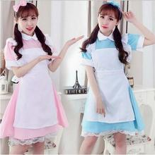 New 2016 Alice in Wonderland Costume Lolita Dress Maid Cosplay Fantasia Carnival Party Halloween Costumes For Women