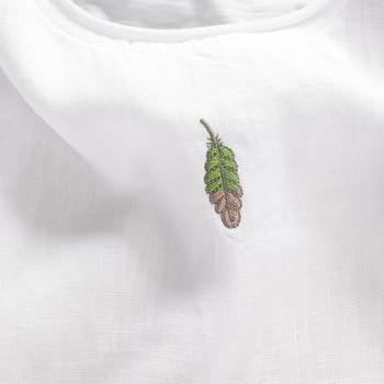 2017 Chinese trend leaf embroidery linen men t-shirt round neck t shirt men cotton casual short sleeve summer men tshirt camisa 8