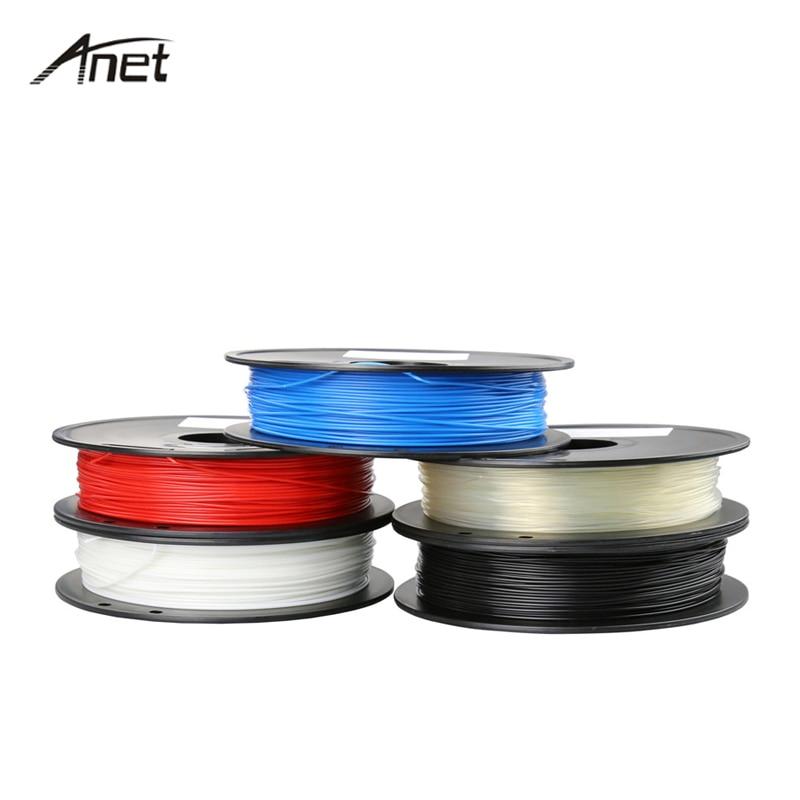 Anet 1.75mm 0.5KG/Roll ABS PLA Filament 3D Printer Filament Plastic Rubber Consumables Material Filaments For 3D Pen 3D Printer createbot multicolors abs filament plastic material