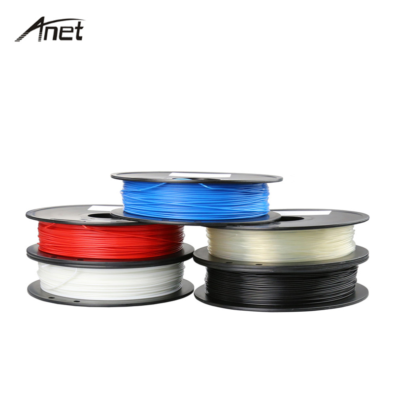 Anet 3d printer 1.75 milímetros 1 kg 0.5 KG/Rolo ABS Filamento Plástico Borracha Consumíveis Material 3D Filamento de Impressora para 3D Caneta Impressora 3d
