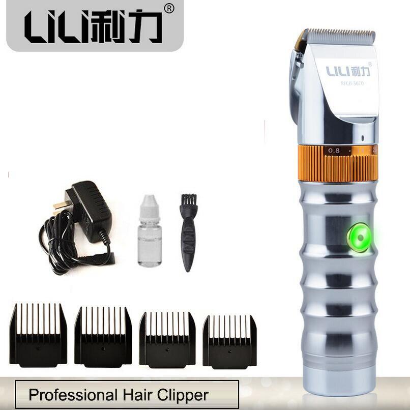 Alliage d'aluminium professionnel tondeuse à cheveux titane lame en céramique Rechargeable électrique tondeuse à cheveux Machine de coupe de cheveux pour les hommes