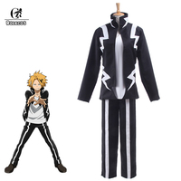 ROLECOS Boku no Hero Academia Anime Cosplay My Hero Academia Kaminari Denki Cosplay Costume School Uniform Men Battle Costume