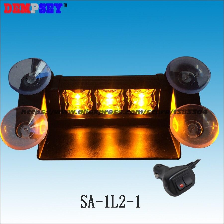 Sa-1l2-1 Bernstein Superhellen Led Dash Licht Mini Objektiv Led Notlicht 12 V-24 V Blinkt Polizei Led-licht 3 Watt Led-warnleuchten