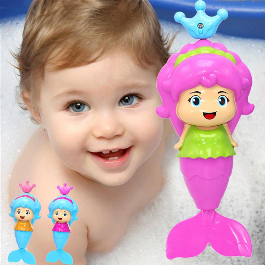 Bath Tub Fun Swimming Baby Bath Toy Mermaid Wind Up Floating Water Toy for Kids Kids Interactive Fun Toy Gift Cherryb