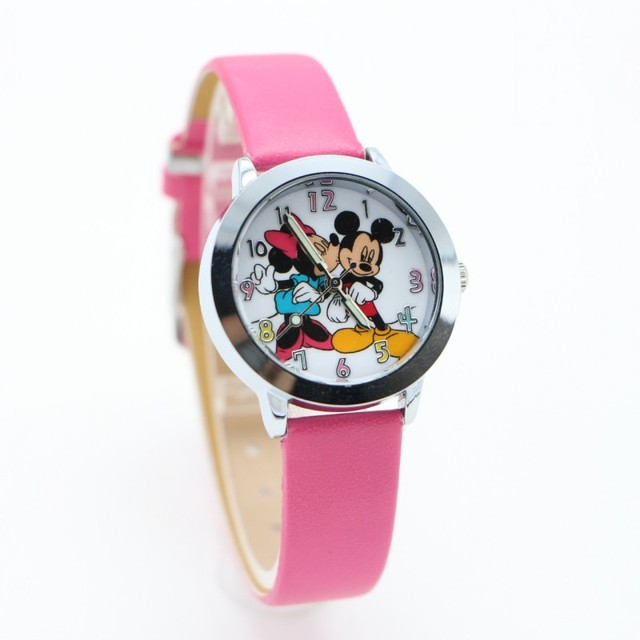 New Pretty Fashion cartoon mouse kids gift watch Womens Ladies Girls Quartz Wris