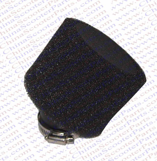 2PCS 35MM Sponge Bent Adapter Air filter Black Core Black Coat Mini Moto Dirt Pit Bike ATV Quad Scooter Buggy Parts