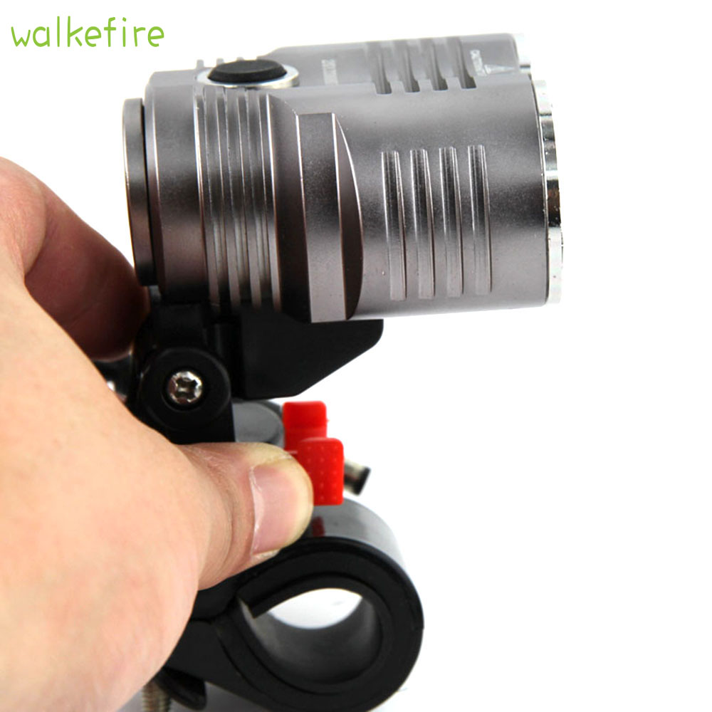 Walkfire Bike Bicycle Front Light 5000 Lumen Headlight Waterpoof Bike Light Lamp Cycling FlashLight XML T6 LED + 6400mAh Battery 6000 lumen 3 xml l2 led bicycle bike light headlamp headlight lampe frontal 5 modes rechargable 6400mah battery pack for cycling