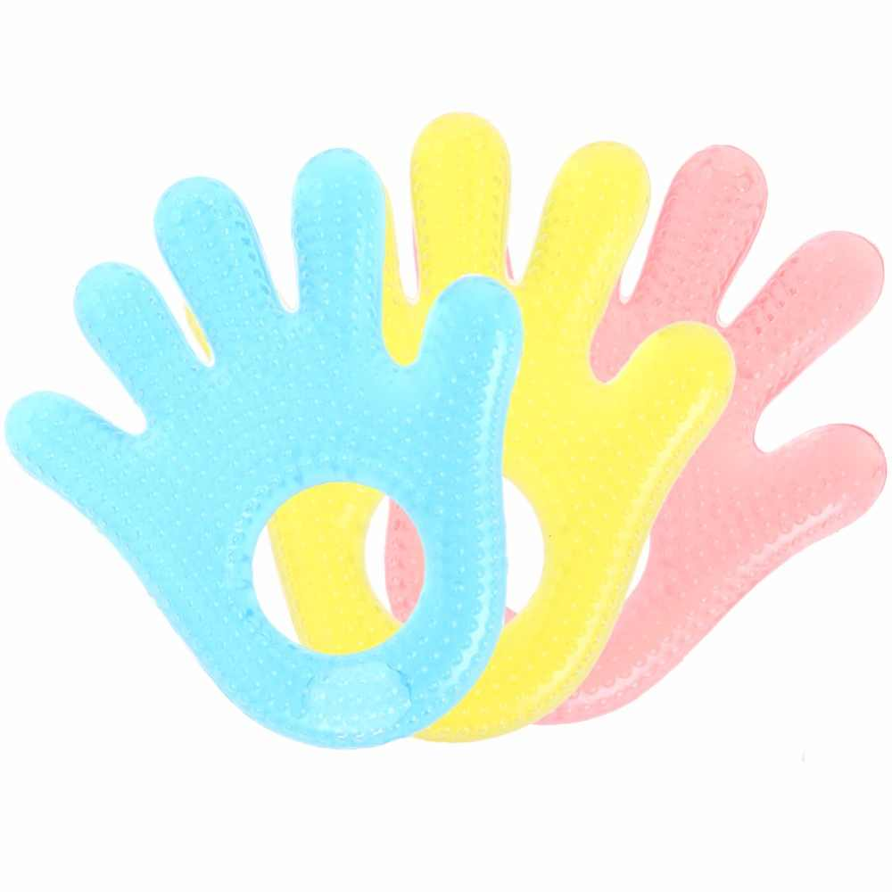 Baby Kid Toddler Mordedor Varilla Molar Masticar Juguete Silicona Handbell Jingle Design Bell Mordedor de beb/é Molar Stick Mordedor de silicona Azul