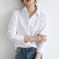 2019 Spring White Women's Shirt Feminine Blouse Top Full Sleeve Casual Loose Female Shirts OL Style Women Blouses blusas mujer