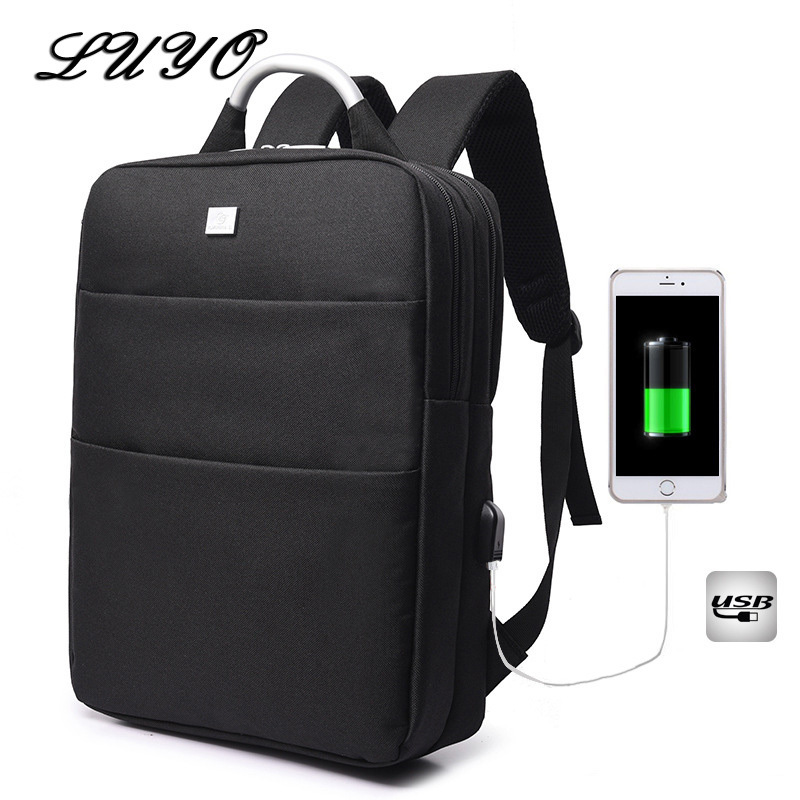 Luyo 15.6 Inch Unisex Laptop Best Anti-theft Usb Charging Travel Backpack Schoolbag Women Male Leptop Bagpack Bags For Teenagers