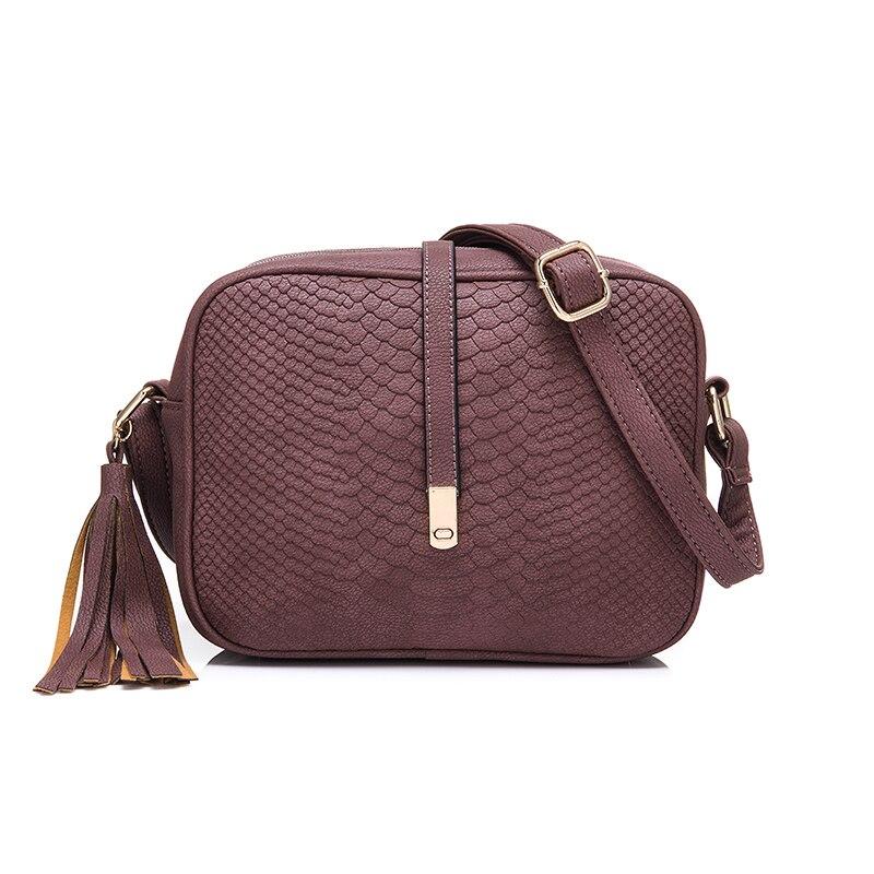 REALER brand casual shoulder bags women small messenger bags ladies retro design handbag with tassel female crossbody bag circle