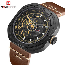 2018 Top Brand Luxury NAVIFORCE Watch Men Fashion Sports Quartz Watches Men's Leather Waterproof Hand Clock Relogio Masculino