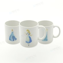 Watercolor Abstract Princess Cinderella Fairy Cartoon Pop Movie Kitchen Ceramic Water Cup kids Girl Gift Coffee Tea Beer Mug Set(China)