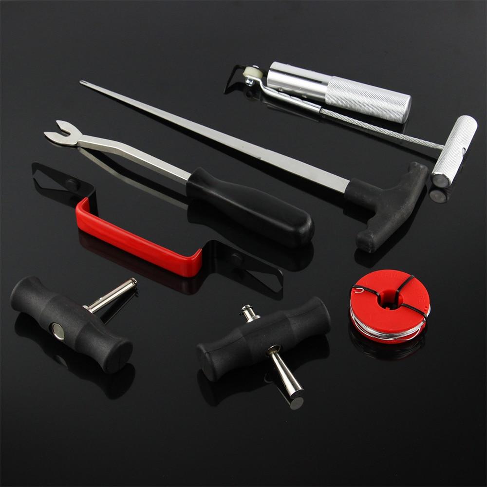Prix pour 7 pcs Pare-Brise Removal Tool Set Pare-Brise En Verre Set De Voiture Van Pare-Brise Kit Garage D'outils À Main