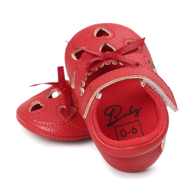 New Baby Girls Shoes Cute Heart-shaped H Princess Shoes Infant Toddler Shoes First Walkers Baby Moccasins