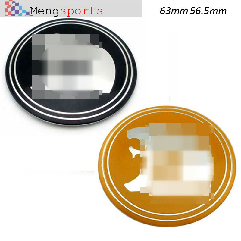 4pcs Wheel Center Sticker 63mm 56.5mm For HSV Black Yellow Alloy Embelm Car Styling badges Sticker free Shipping ...