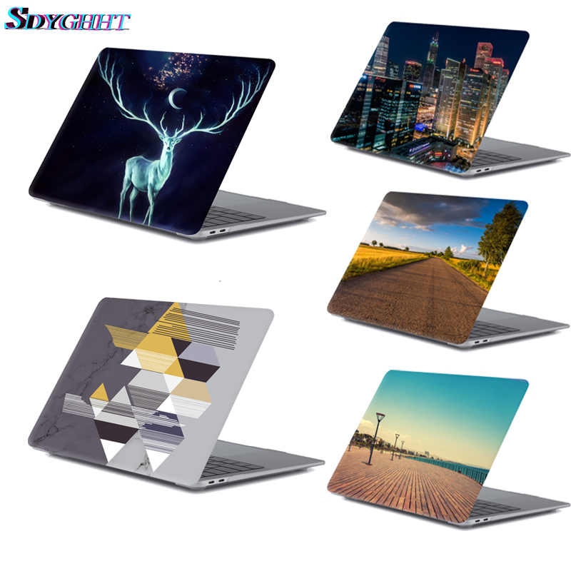 New printing pattern Laptop Case For Apple MacBook Air Pro Retina 11 12 13 15 for mac book Pro 13.3 15.4 inch with Touch Bar