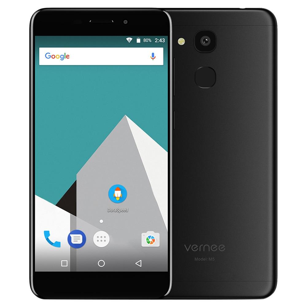 Vernee M5 4G Smartphone Android 7.0 5.2 inch MTK6750 Octa Core 1.5GHz 4GB RAM 64GB ROM Fingerprint Scanner 13.0MP Rear Camera
