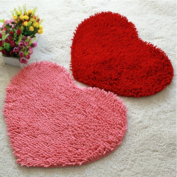Saugfähigen Rutschfeste Matten Bad Badematte Set Matte Herzförmigen Runde  Kissen Fussmatten Teppich Für Wohnzimmer Tapetes
