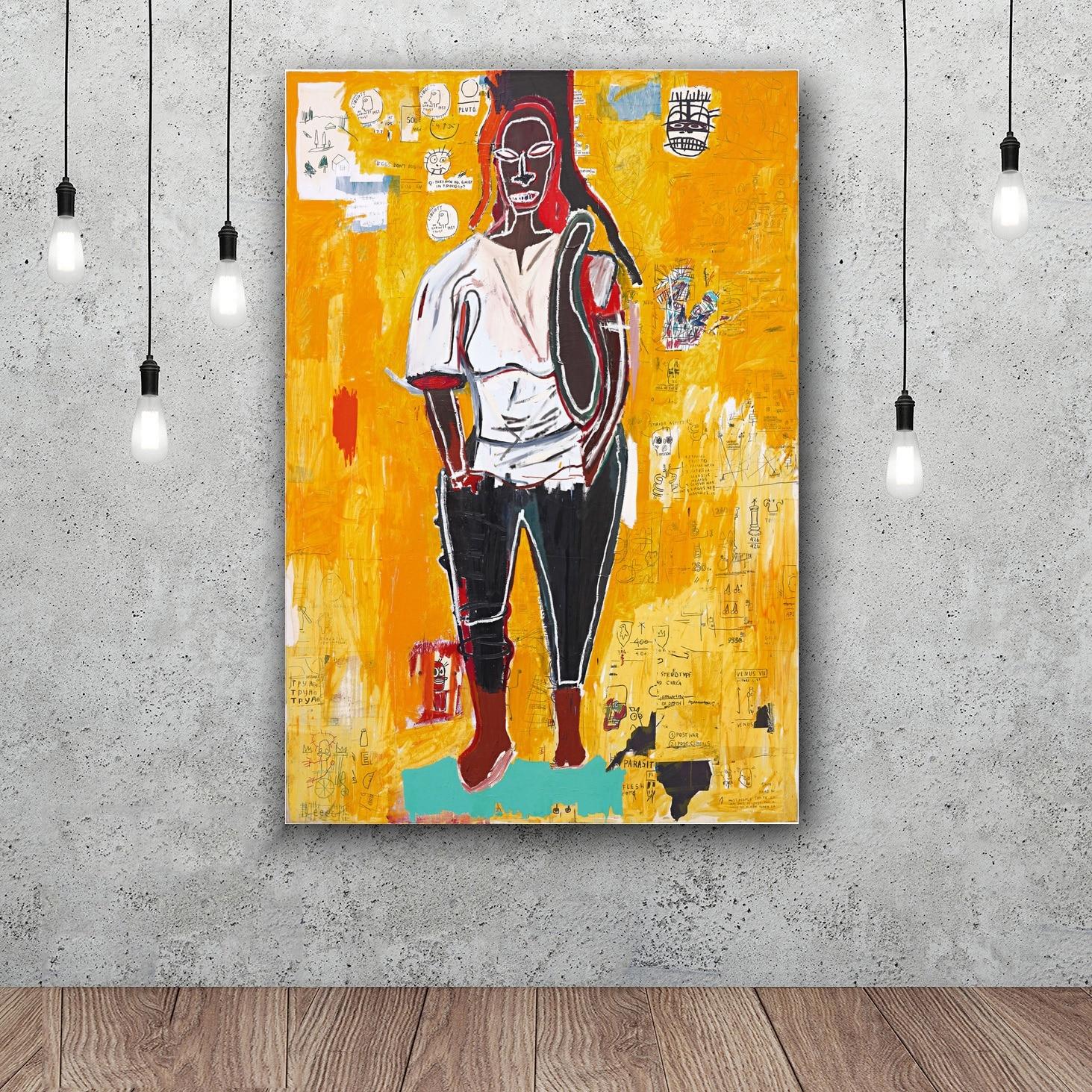 Jean Michel Basquiat Graffiti Wall Art Paint Wall Decor Canvas ...