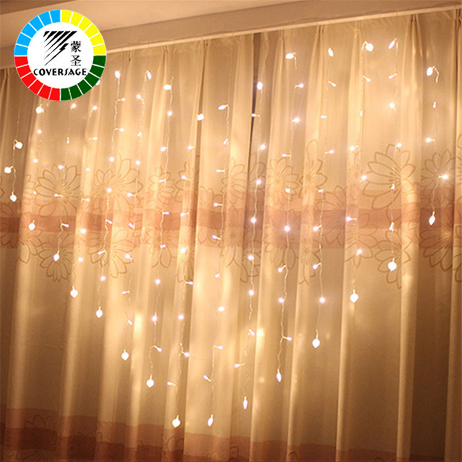Coversage Heart Shape Fairy String Lights Wedding Curtain