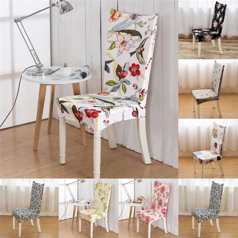 New Stretchy Polyester Back Chair Cover Universal Stretch Spandex Slips Set For Dining Room