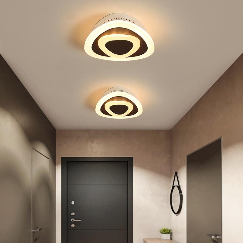Modern ceiling lights 12w for hallway balcony corridor Coffe white light lamps bedroom luminaria teto acrylic lamparas de techo