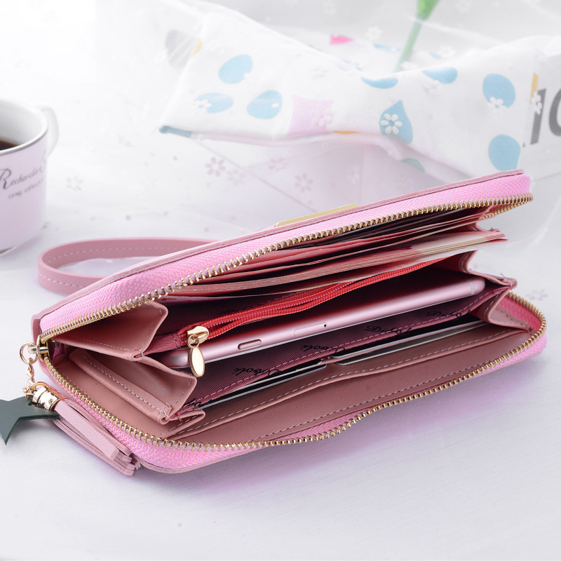 Image 5 - MONNET CAUTHY New Female Wallets Fashion Concise Large Capacity Multi card Slot Cell Phone Pocket Solid Color Green Long WalletWallets   -