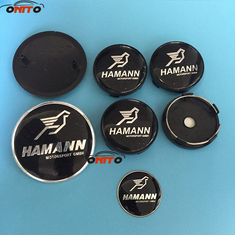 7pcs/lot 82mm front/rear boot badges hood trunk logo car emblem 60mm wheel cover steer stickers for BMW E60 E90 F10 F30 F15 E63