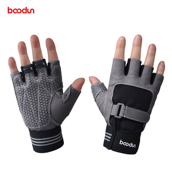 Boodun Men Women's Weight Lifting Gym Gloves Crossfit Sports Fitness Handschoenen Workout Weightlifting Gloves Dumbbell Barbell fitness weight lifting belt gym powerlifting crossfit barbell lifting dip belt weightlifting equipment for training lifting belt