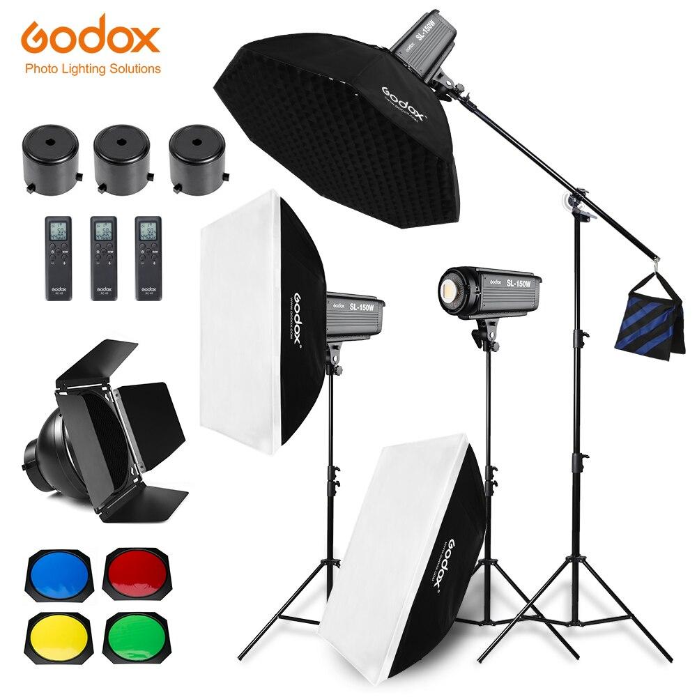 Godox 450W SL 150W Continuous Light Studio LED Light Softbox Light Stand Studio Boom Arm Light