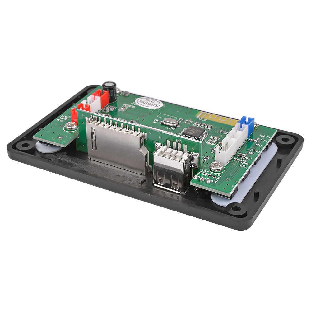 AIYIMA 5 в LCD MP3 декодер плата Bluetooth 4,2 аудио приемник APE FLAC WMA WAV декодирование Поддержка записи радио лирика дисплей