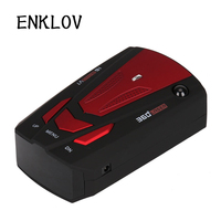 ENKLOV English/ Russian Voice Alert Warning Speed Radar Car Electronics Detector 360 Degree 16 Band Scanning Auto Detector
